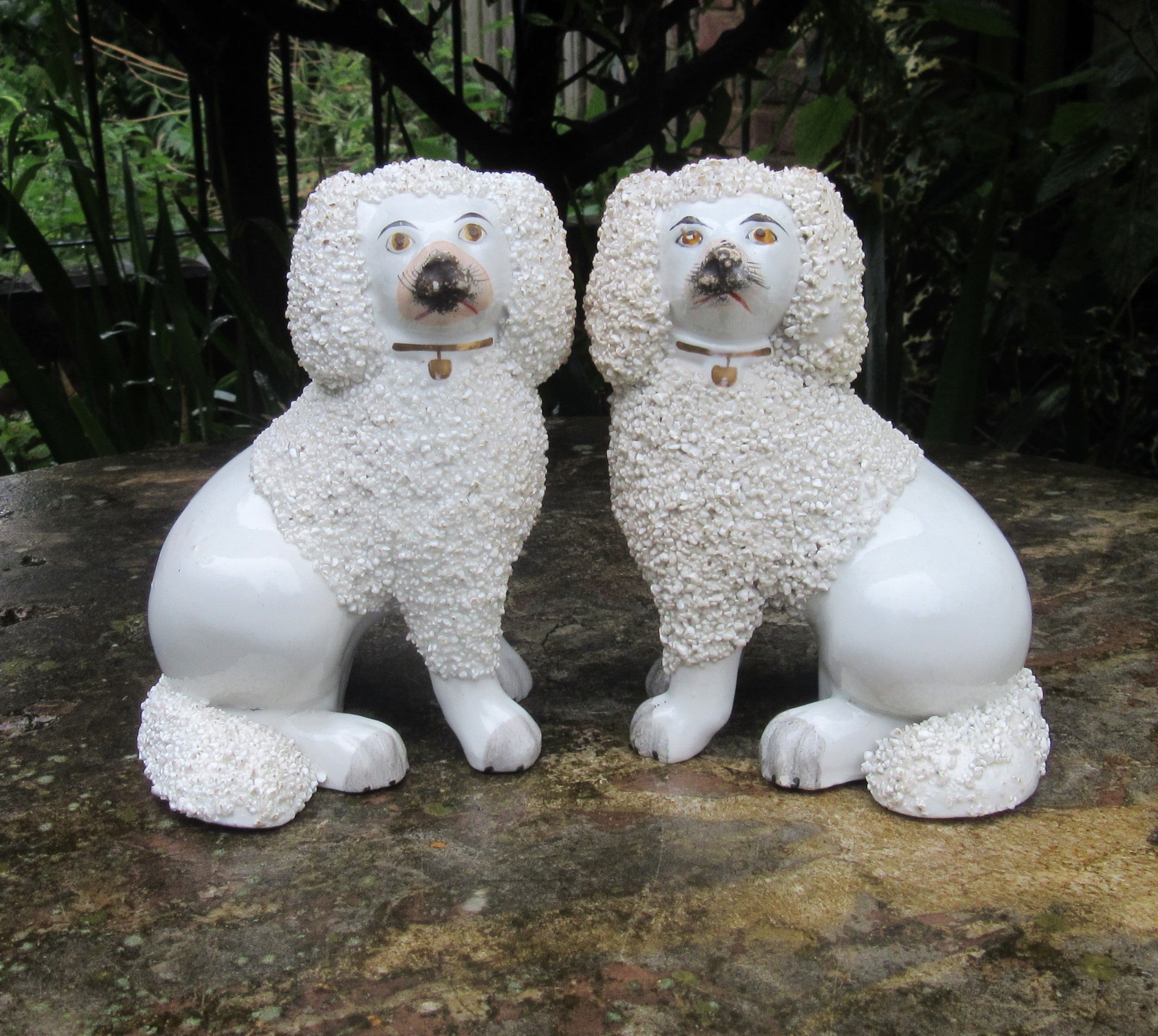 pair of antique staffordshire dogs c1860