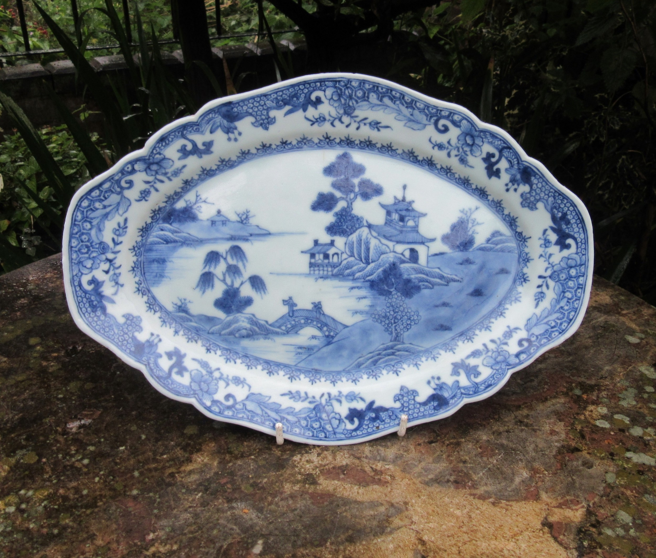 chinese blue white porcelain dish c1800