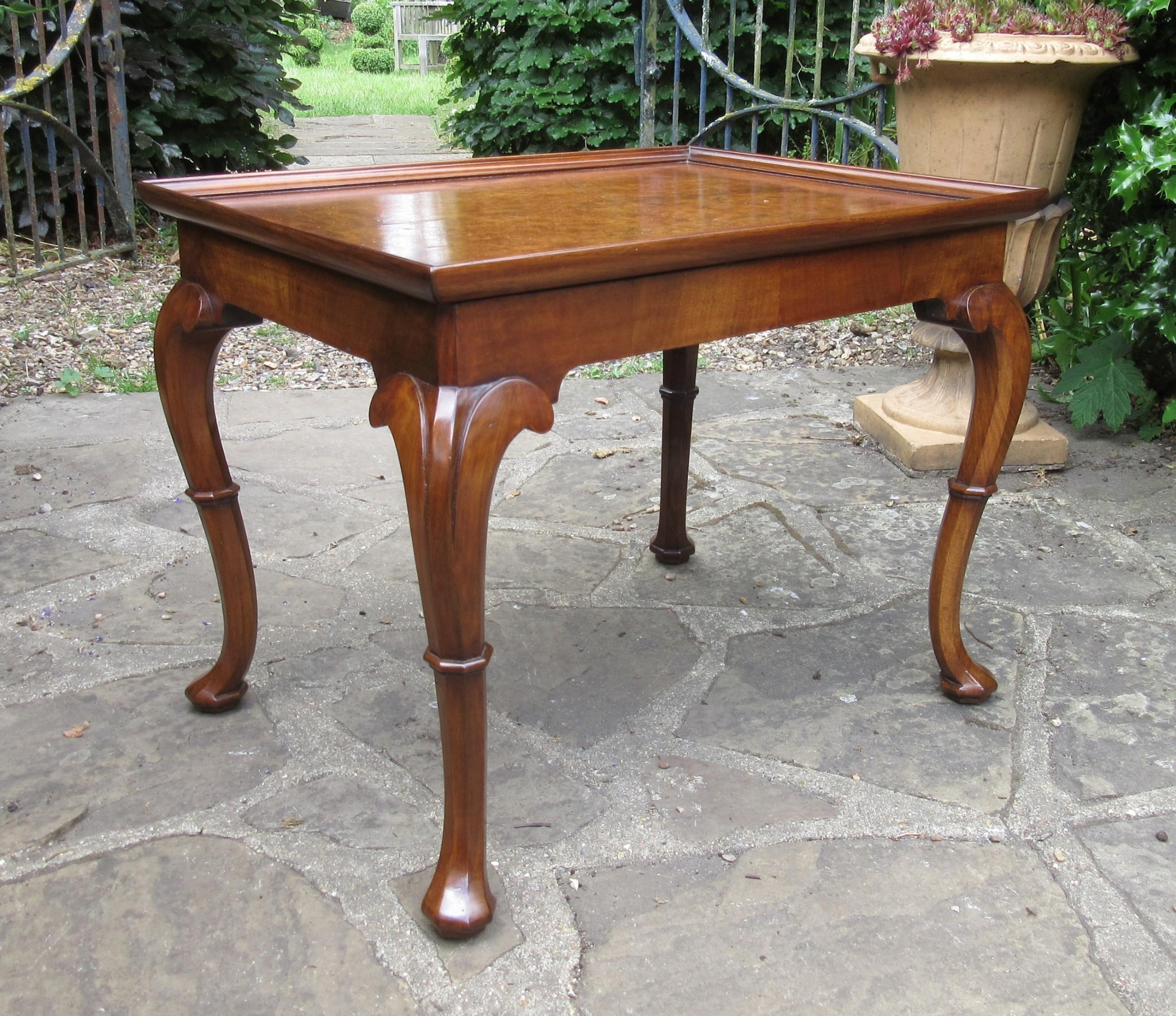 fine queen anne style walnut coffee table c1910