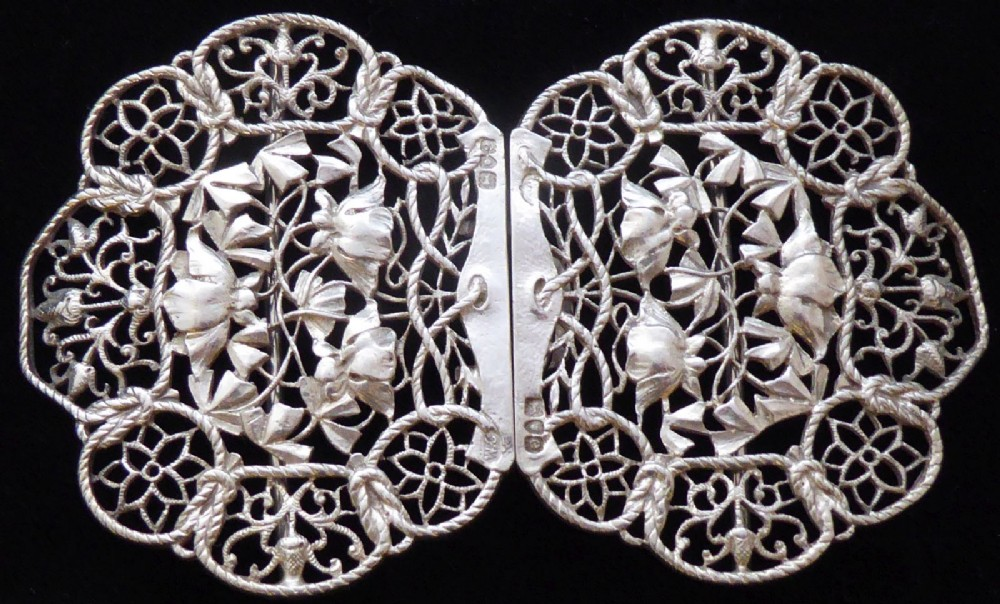 c87a49c83 london 1900 art nouveau hallmarked solid silver nurses belt buckle william  comyns