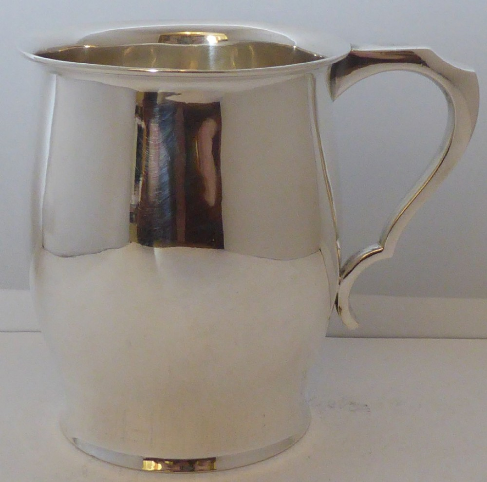 12 pint 1925 hallmarked solid silver christening mug tankard william hutton