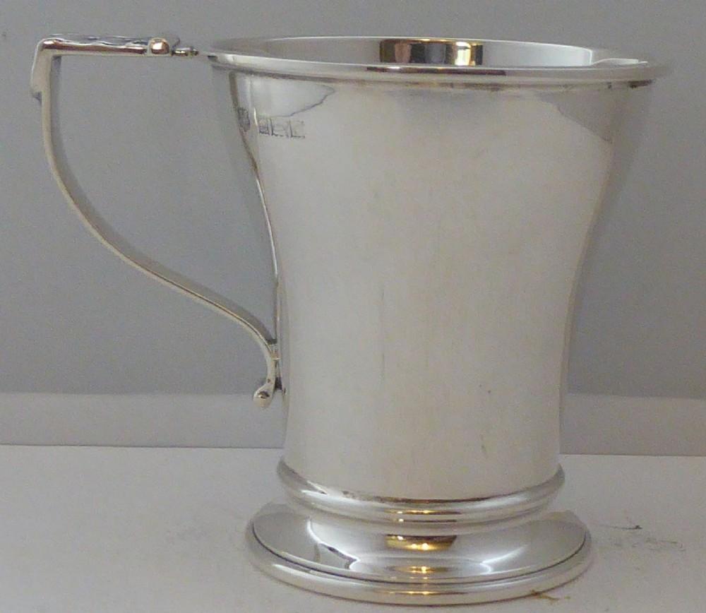 1952 hallmarked solid silver christening mug tankard barker bros
