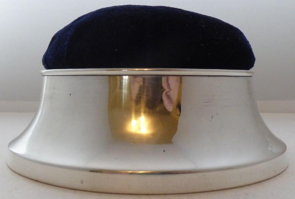 1913 hallmarked silver sewing pin cushion ring earring jewellery jewelry box