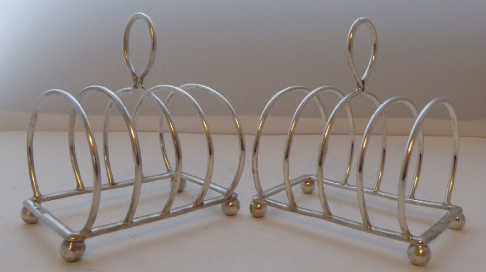 pair 1912 solid hallmarked silver toast rack racks william hutton 964g