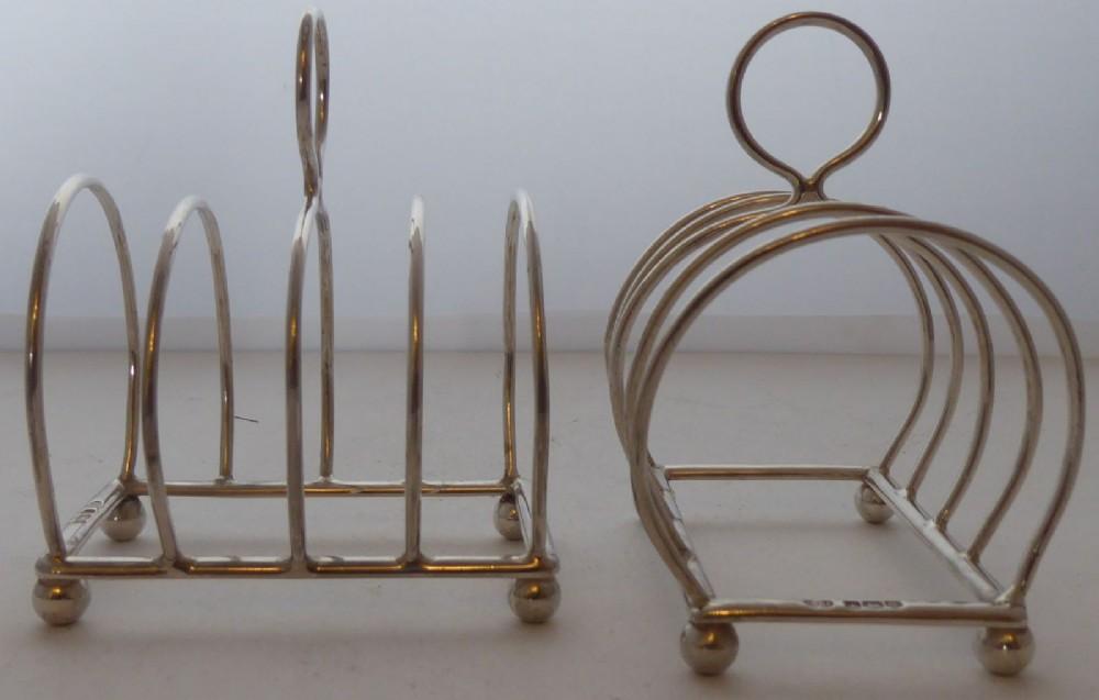pair 1935 solid hallmarked silver toast rack racks william hutton 99g