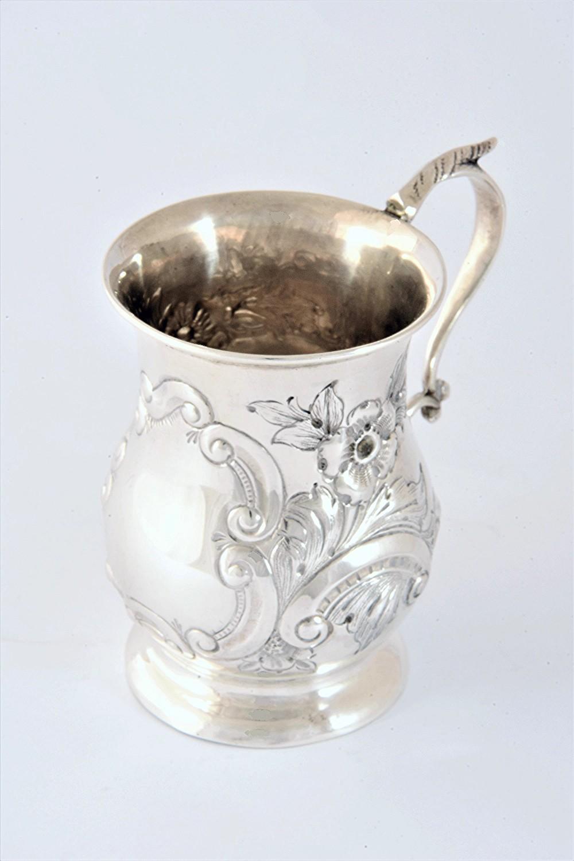 antique silver christening tankard chester 1898