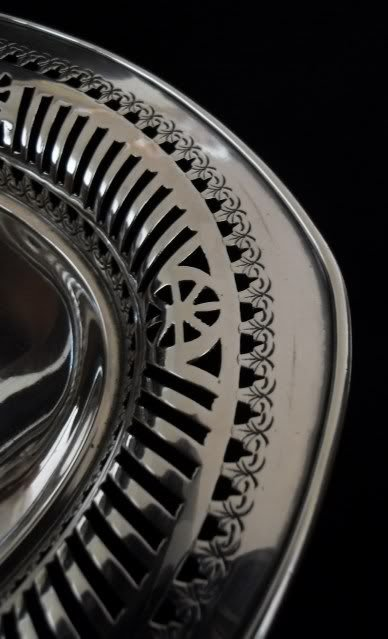 victorian silver swing handled pierced basket - photo angle #4