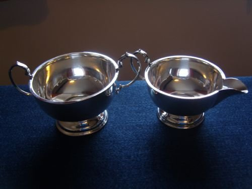 stunning art deco silver sugar bowl and cream jug