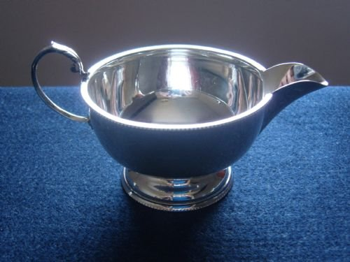 stunning art deco silver sugar bowl and cream jug - photo angle #3
