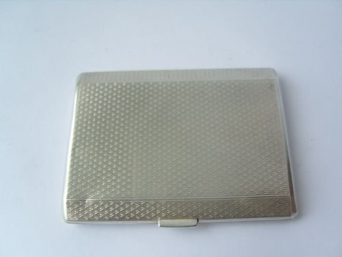 lovely hallmarked silver engine turned cigarettecard case