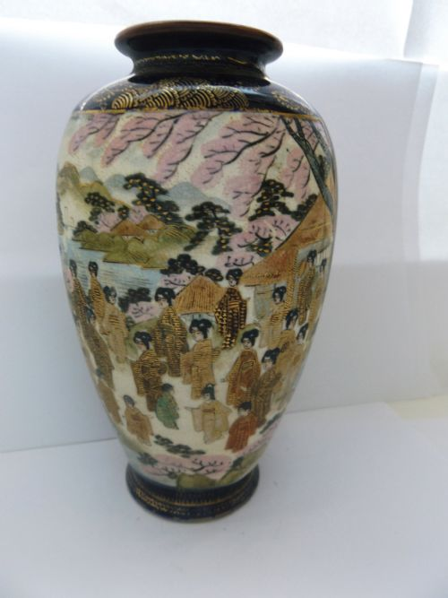 Antique Satsuma Vases The Uks Largest Antiques Website