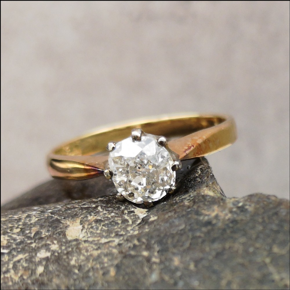 lovely 07ct diamond solitaire 18ct gold ring