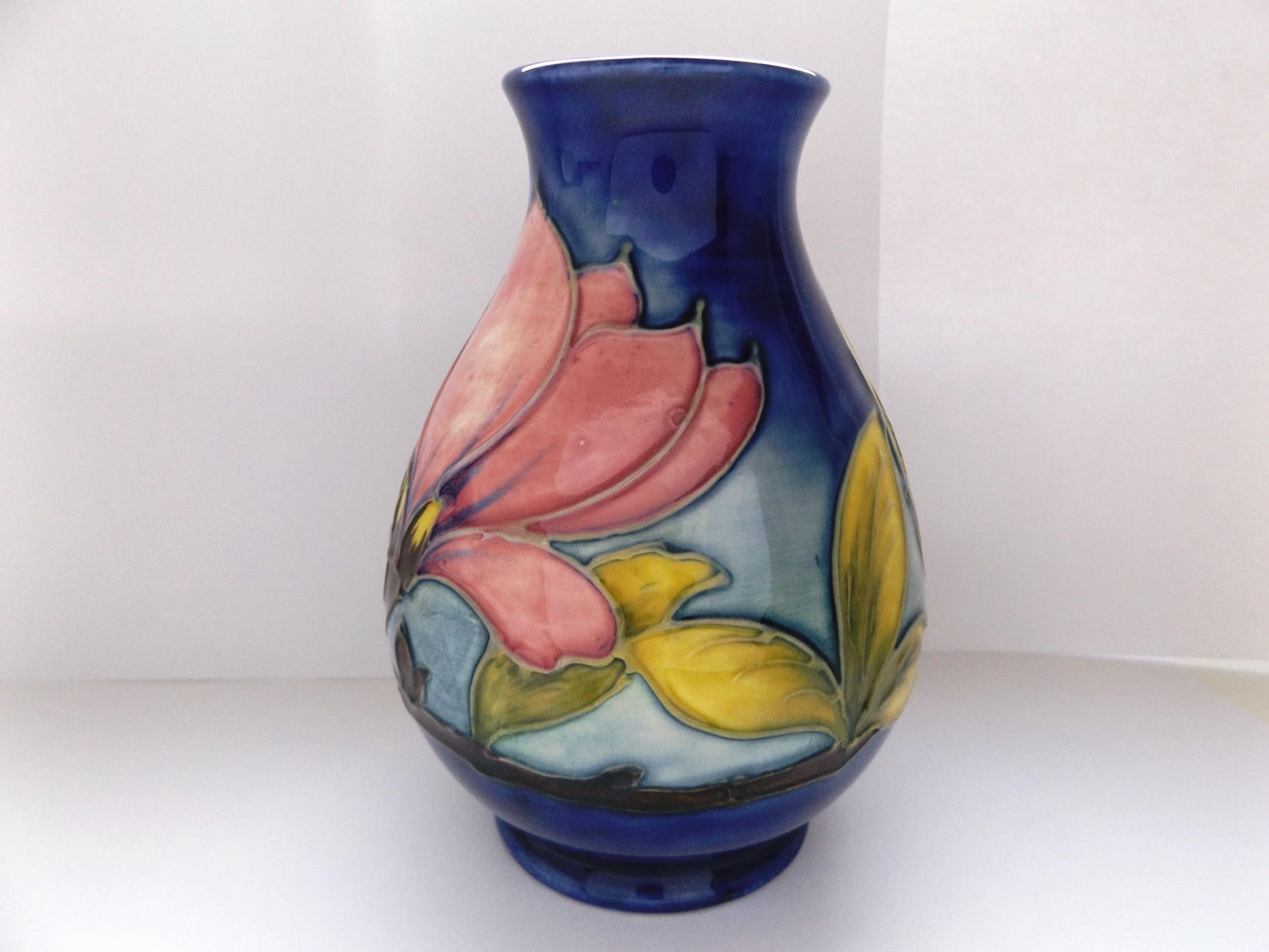 Lovely moorcroft magnolia pattern medium vase 502385 page load time 030 seconds reviewsmspy
