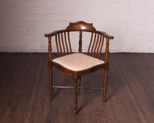 Sinclairs Antiques and Interiors · A GEORGIAN OAK CORNER CHAIR - Antique Corner Chairs - The UK's Largest Antiques Website