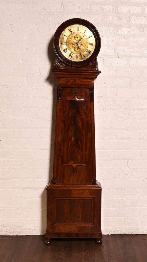 a victorian mahogany 8 day drum head longcase clock by j paterson airdrie