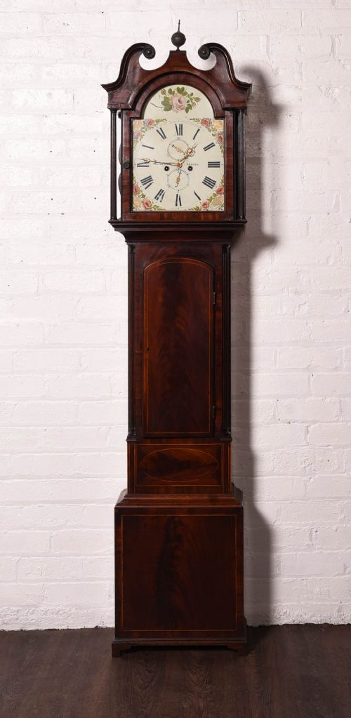superb scottish mahogany 8 day longcase clock by walter scott lauder