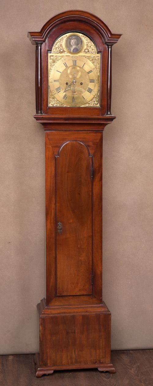 georgian scottish mahogany 8 day longcase grandfather clock by james cuthbert of pert
