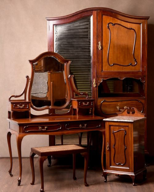 quality scottish edwardian mahogany 4 piece bedroom suite