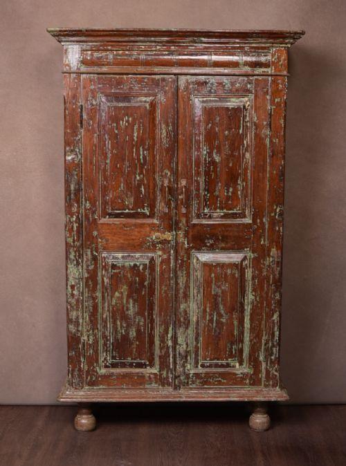 excellent 19th century teak 2 door pantry cupboard