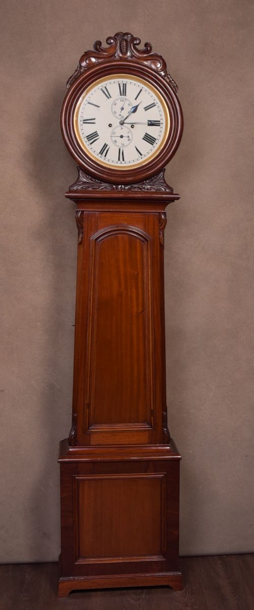 superb victorian mahogany scottish 8 day drum head longcase clock