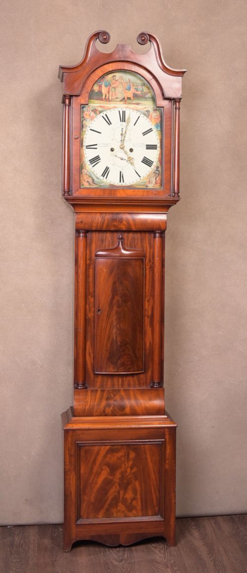 victorian scottish mahogany longcase grandfather clock by j purdy of carluke