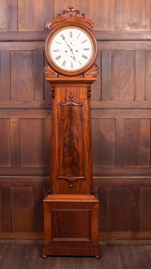 stunning scottish victorian 8 day long case clock by benjamin king of glasgow