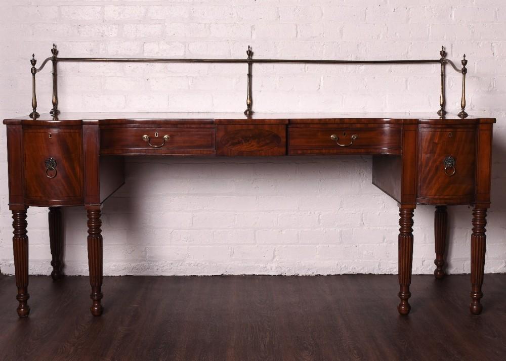 large scottish mahogany regency sideboard