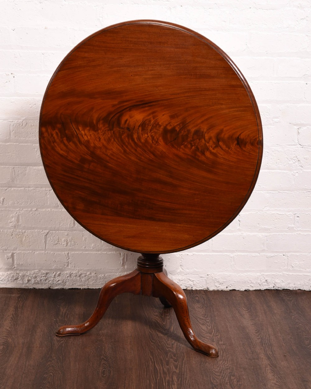 georgian flame mahogany snap top supper table