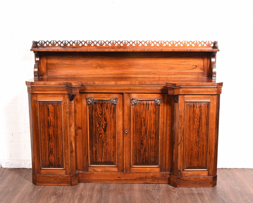 stunning 19th century rosewood breakfronted side cabinet bookcase