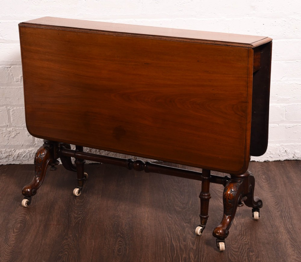 victorian mahogany sutherland drop leaf table