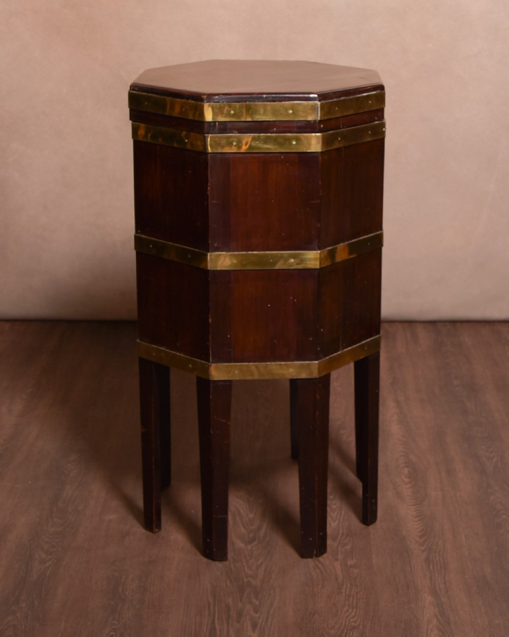 handsome george iii brass bound mahogany cellaret