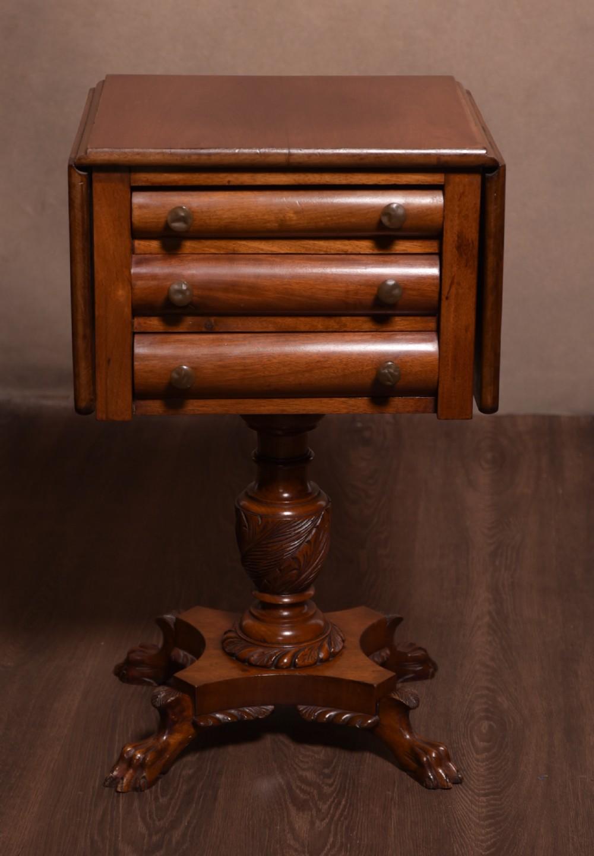 victorian drop leaf mahogany work table