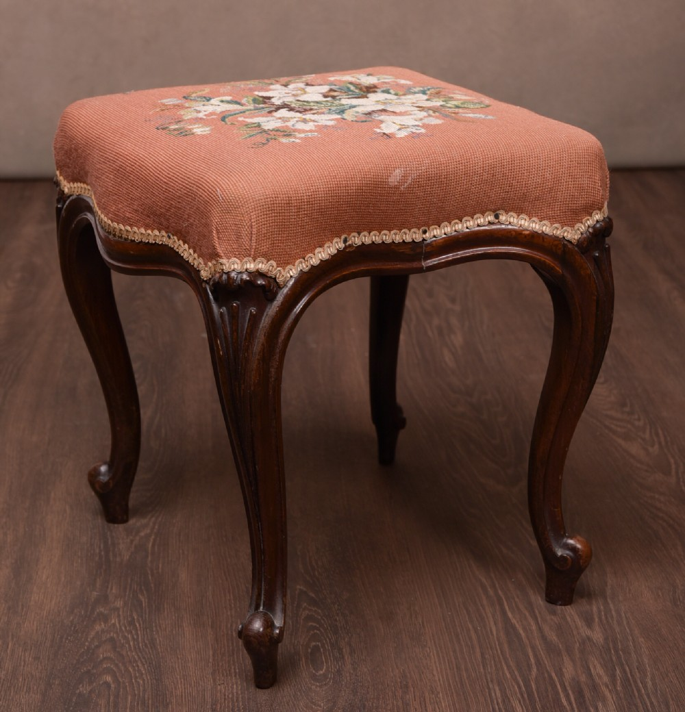 victorian rosewood footstool