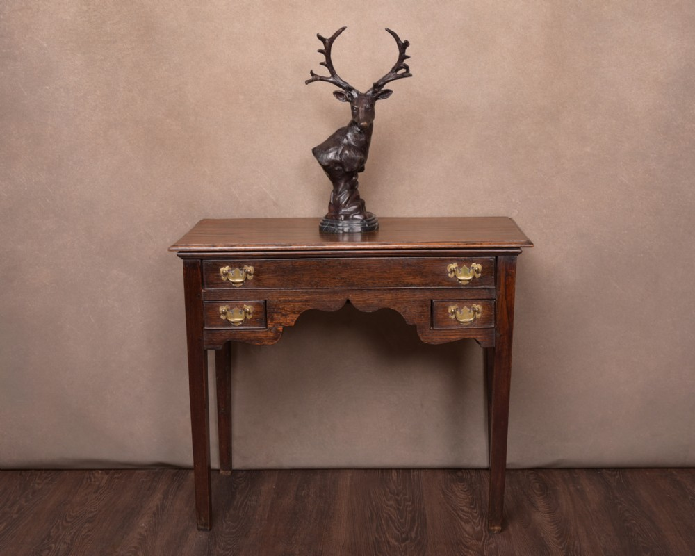 18th century oak lowboy