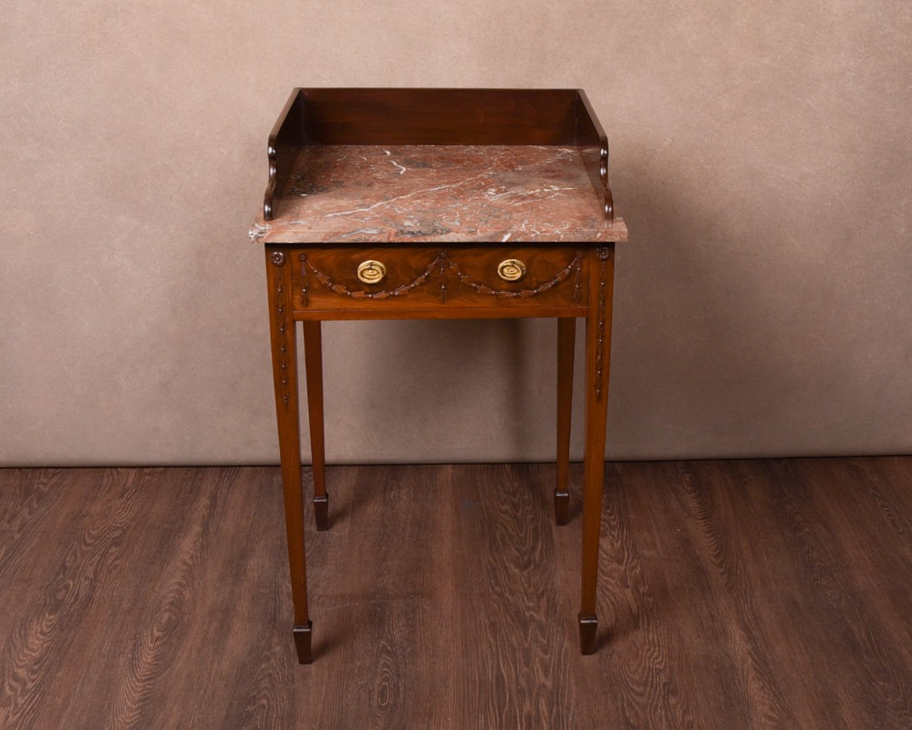 neat edwardian adams style night stand side table