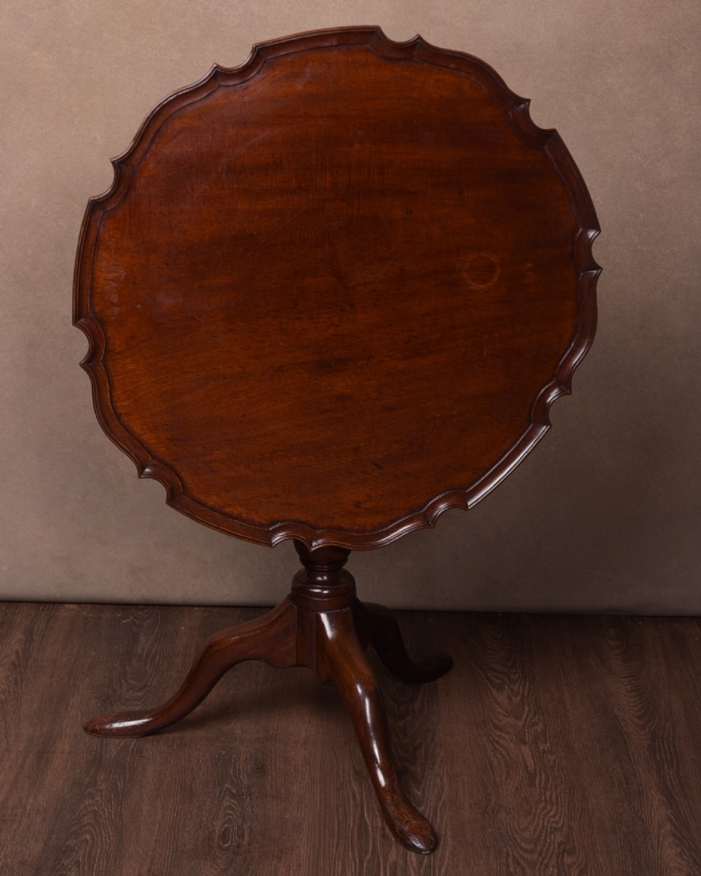 georgian mahogany snap top supper table