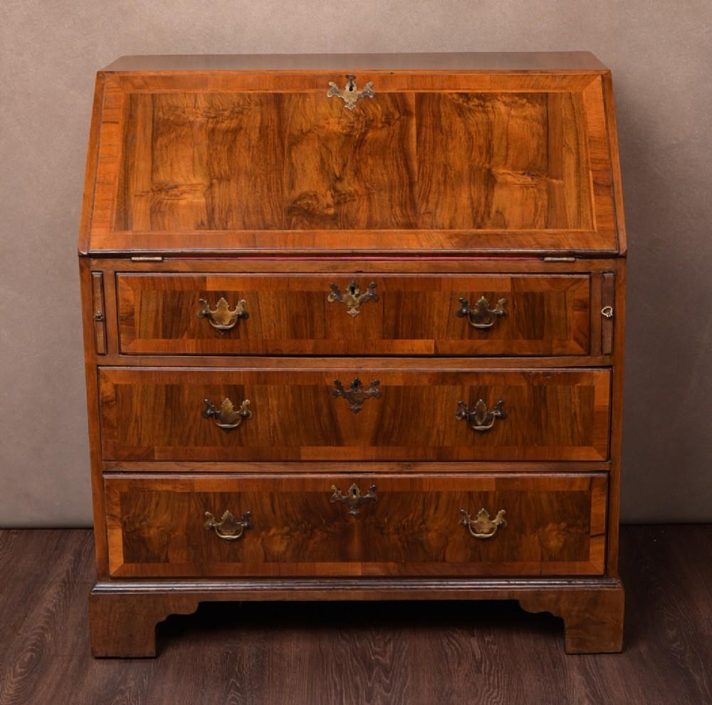 18th century walnut writing bureau