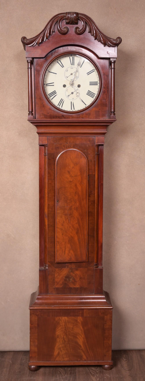 scottish mahogany 8 day long case clock