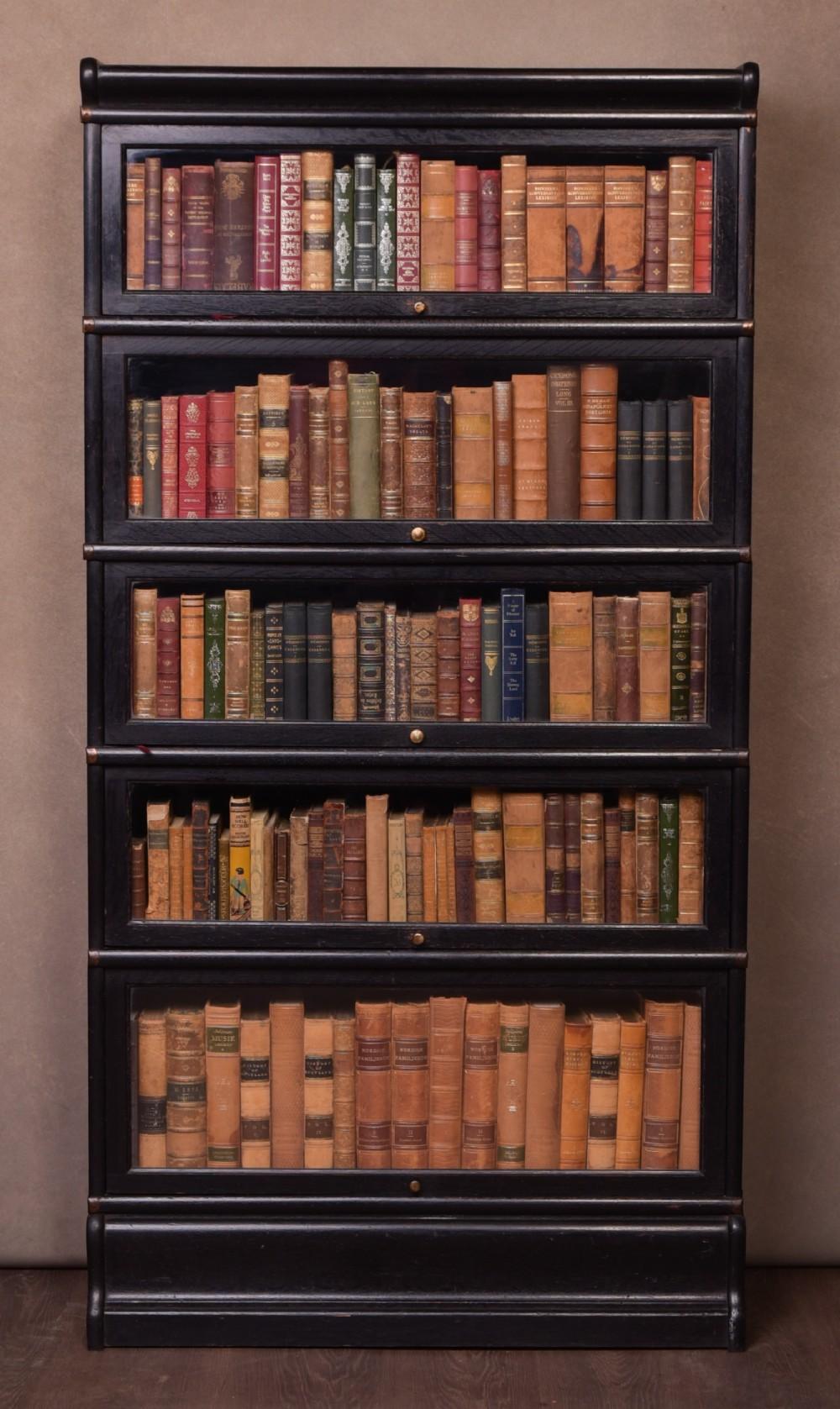 5 Section Globe Wernicke Oak Barrister Bookcase 627045