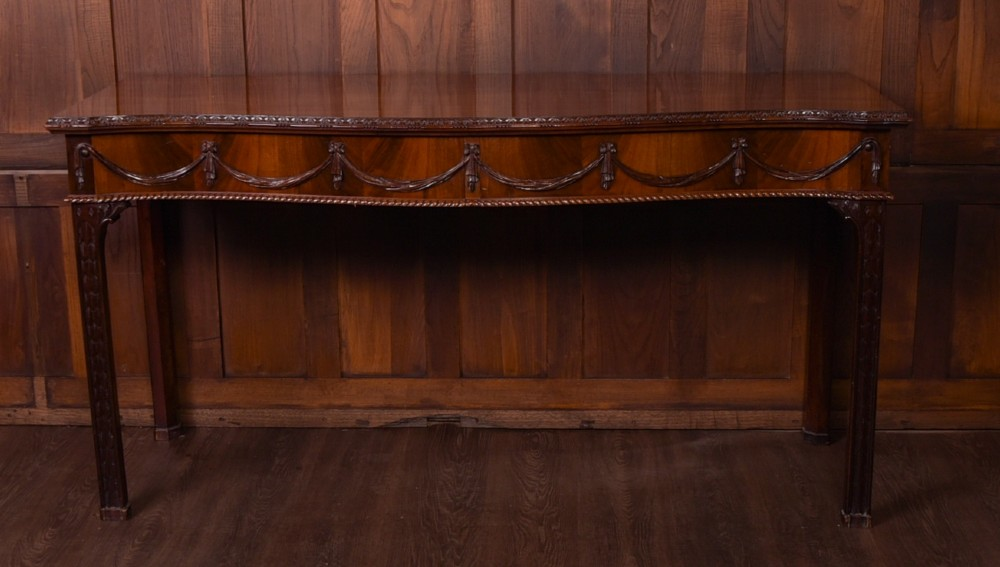 stunning 19th century country house serpentine fronted side table