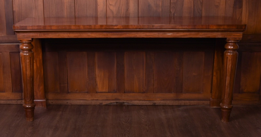 victorian mahogany oversized country house console table