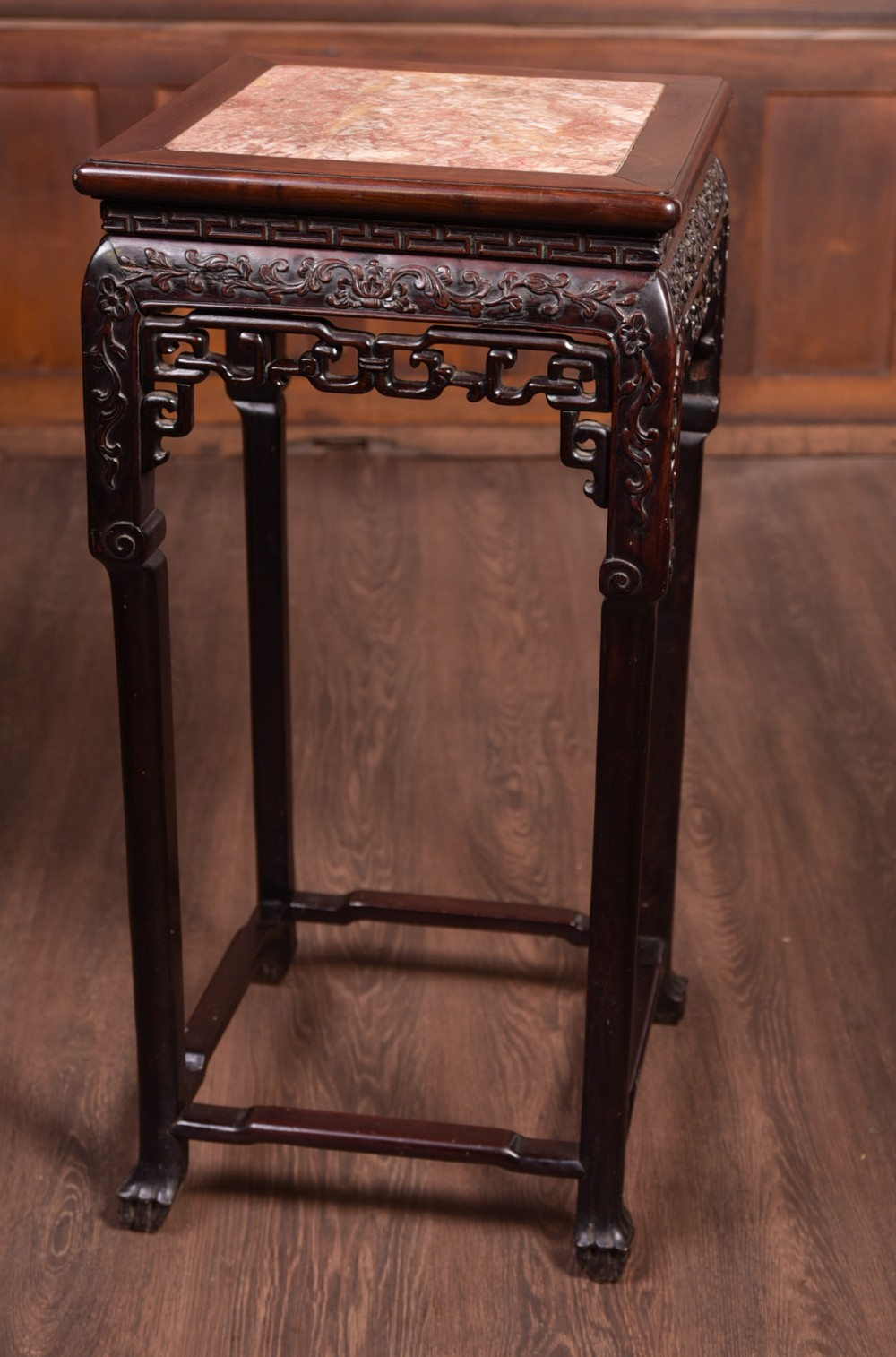 19th century chinese rosewood vase stand