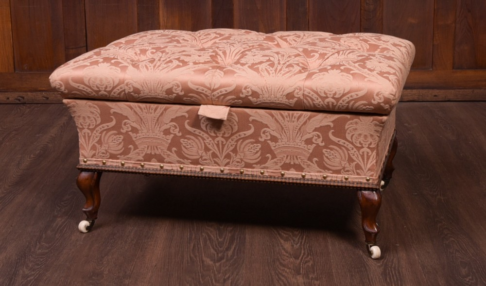 fantastic victorian deep buttoned ottoman stool