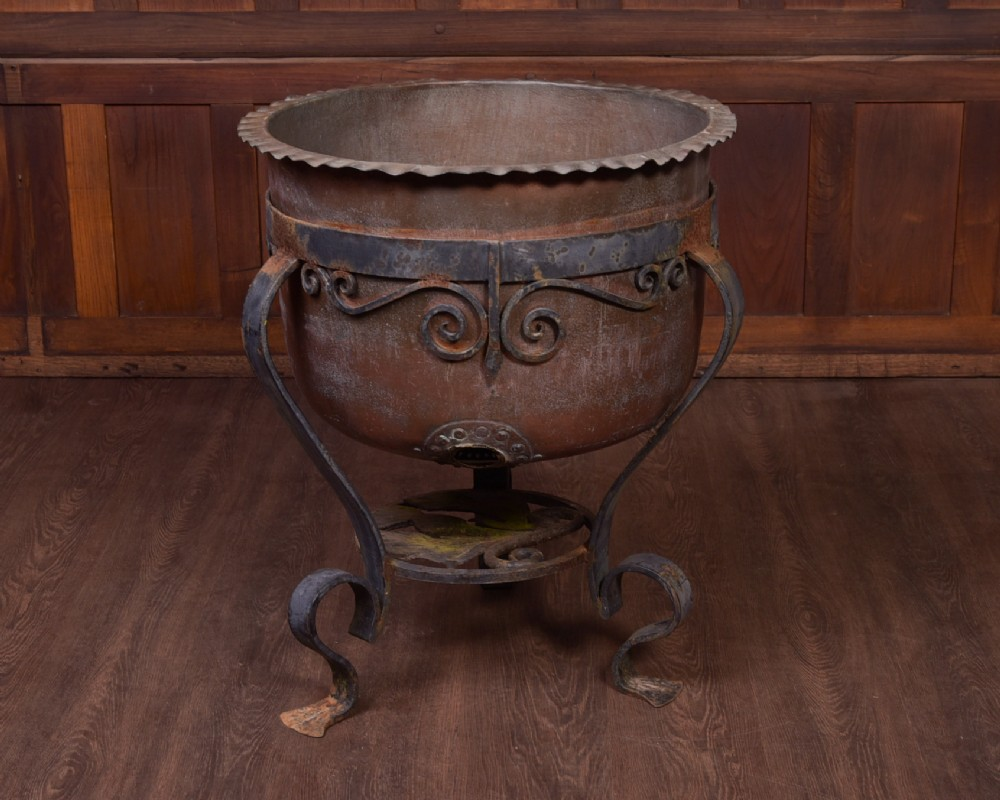 fantastic 19th century large scottish copper and and steel planter
