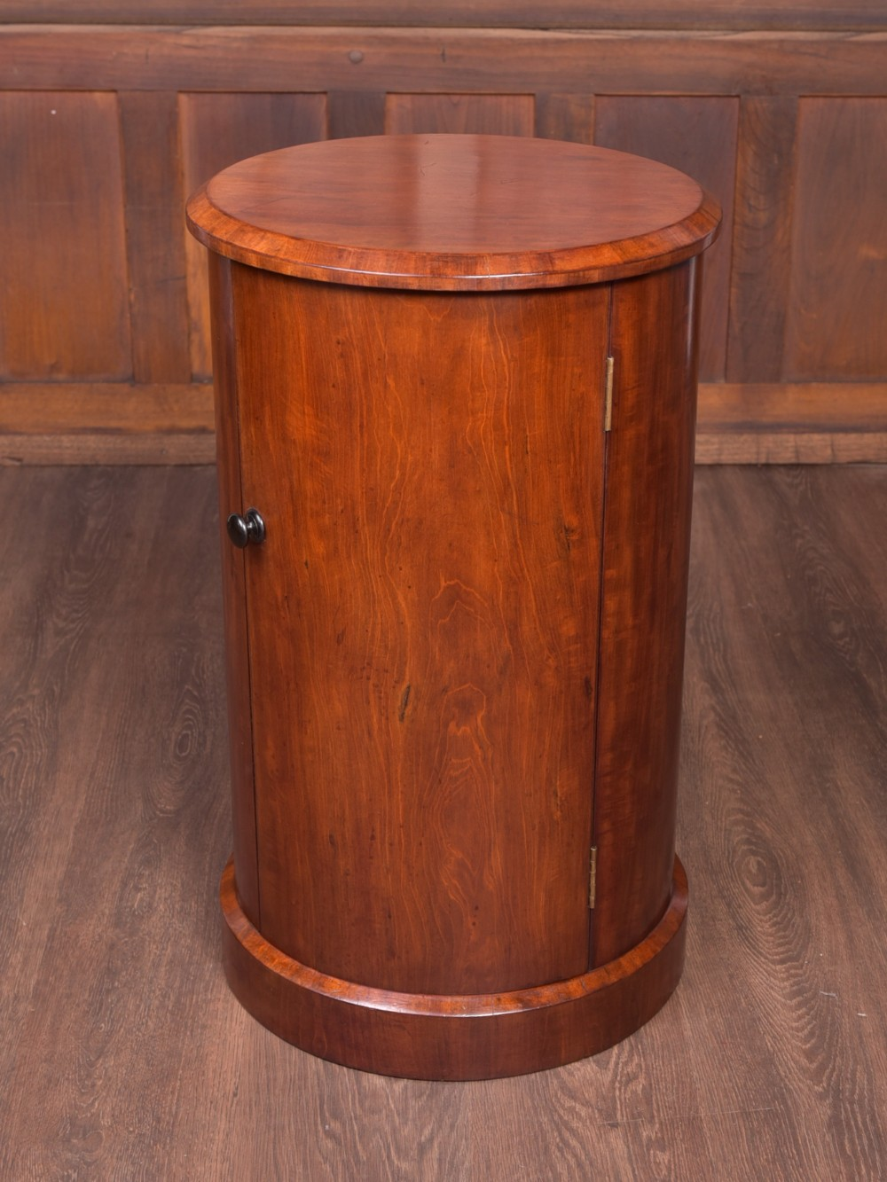 handsome victorian mahogany cylindrical cabinet