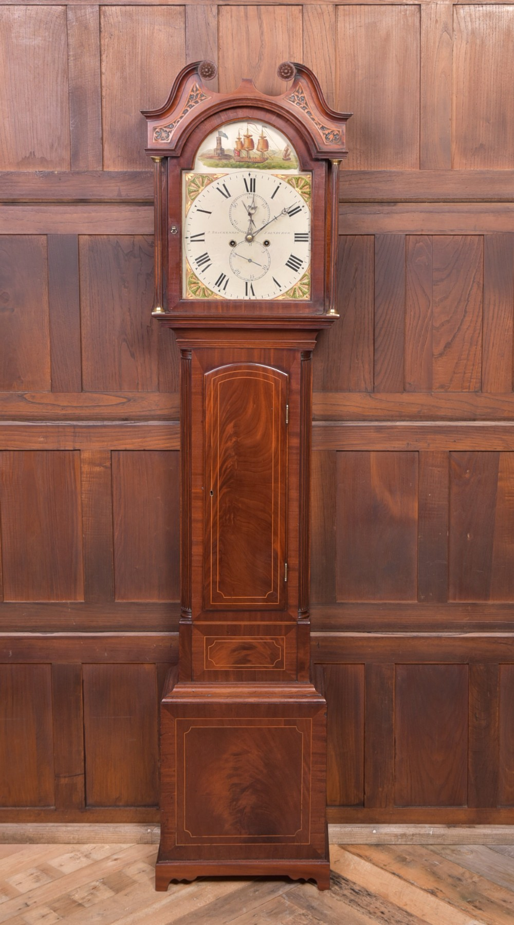 superb mahogany scottish 8 day longcase clock by a backenrig of edinburgh