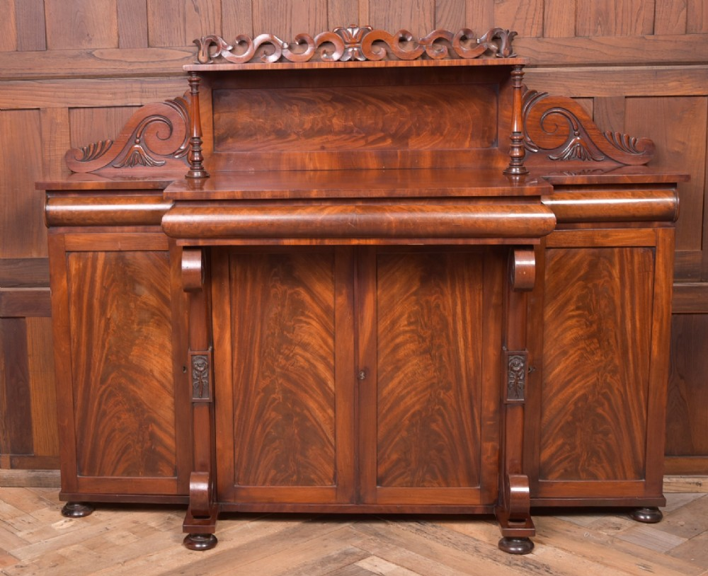 outstanding william iv flame mahogany breakcentre side cabinet