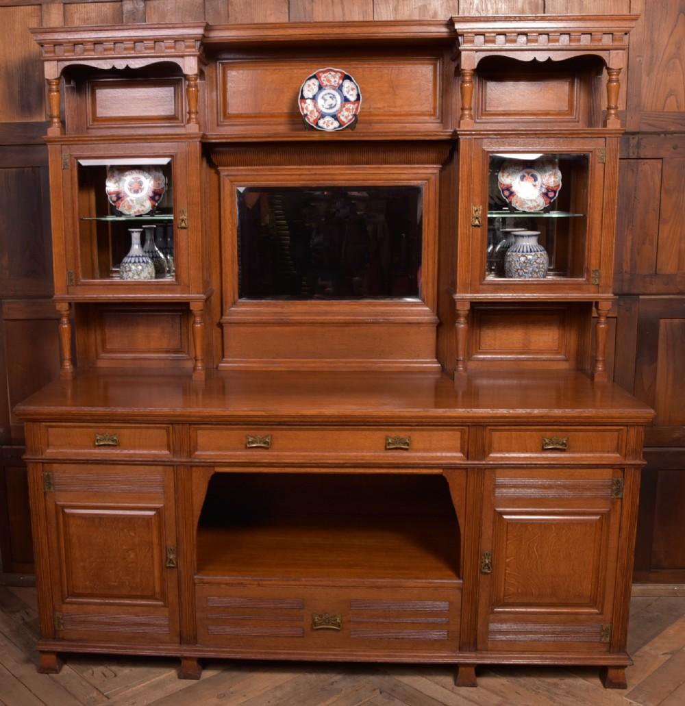 edwardian oak mirror back sideboard