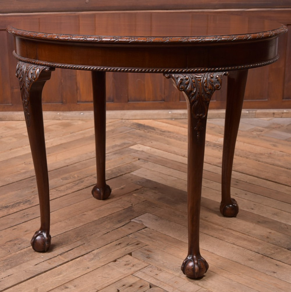 quality edwardian mahogany oval window table