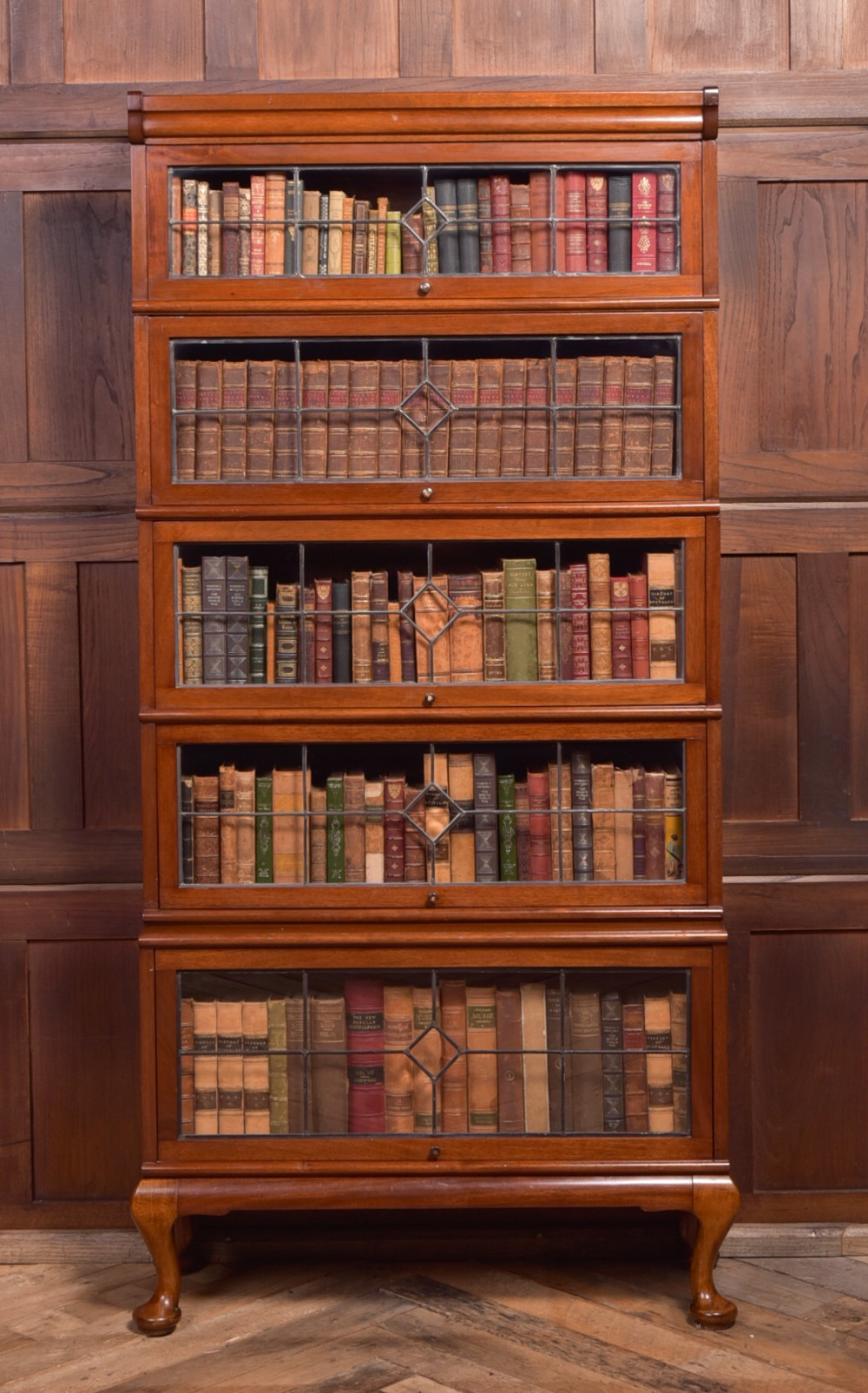 unusual mahogany scottish sectional bookcase